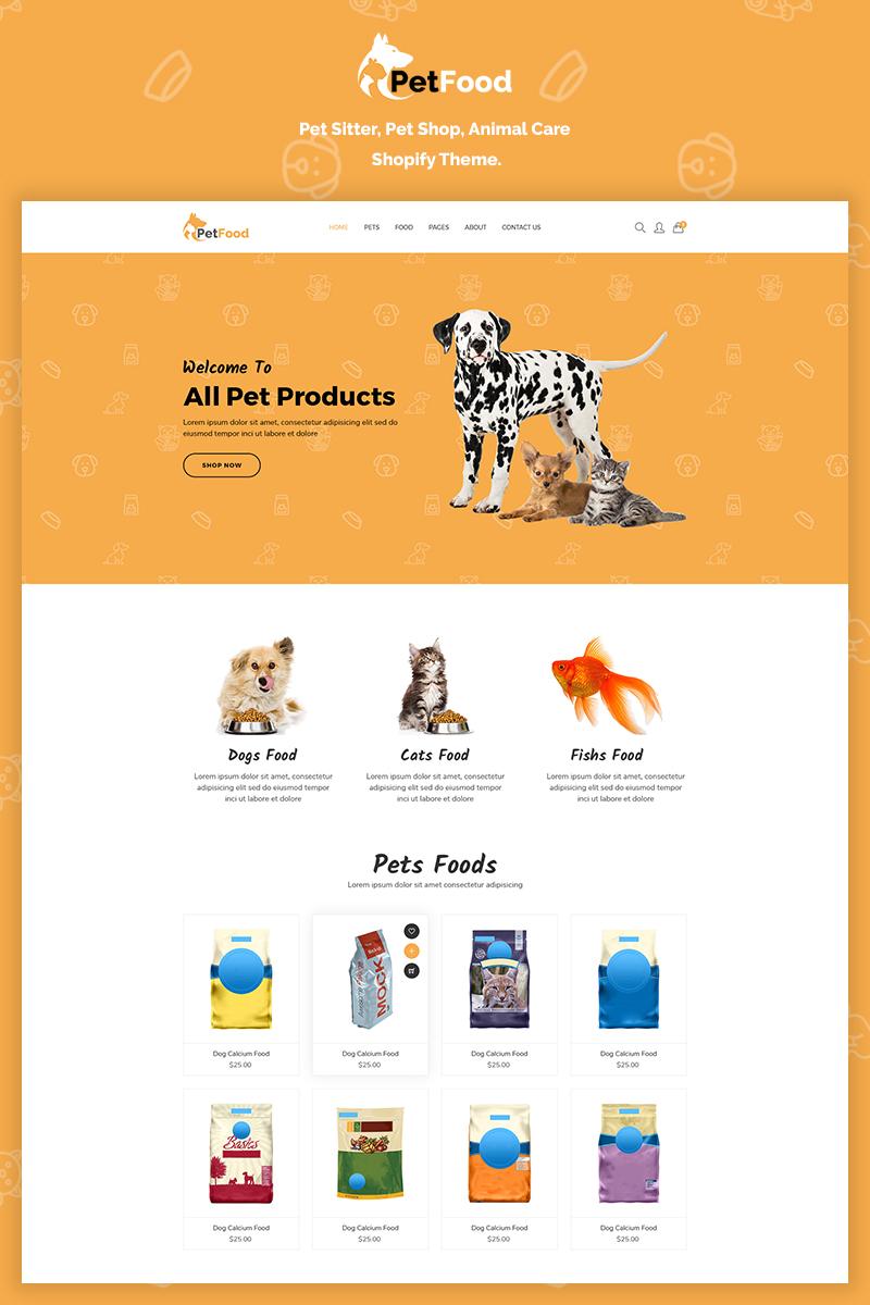 Responsive PetFood - Pet Sitter, Shop, Animal Care Shopify #70201