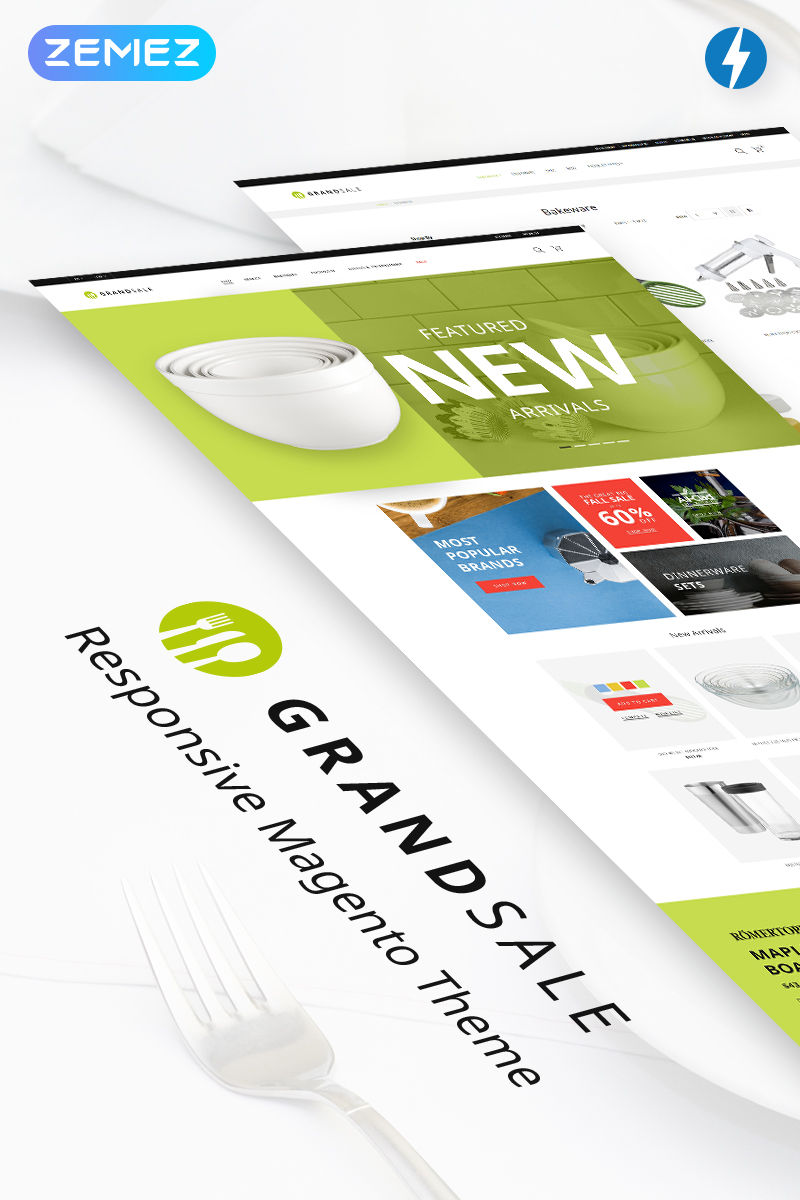 Reszponzív GrandSale - Kitchen Supplies Magento sablon 70291