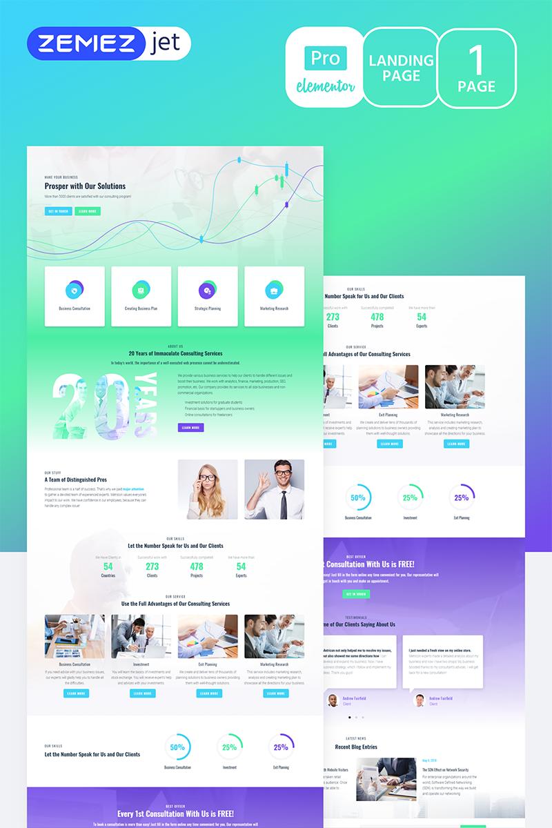 Solutt - Corporate Business Pro Template de Elementor №70216