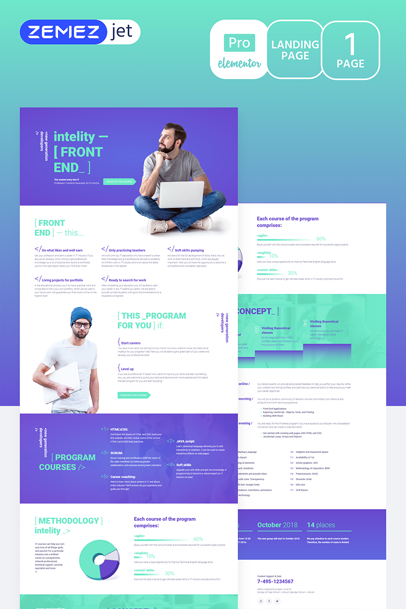 """Studiex - IT Cources Pro"" Elementor Template №70217"