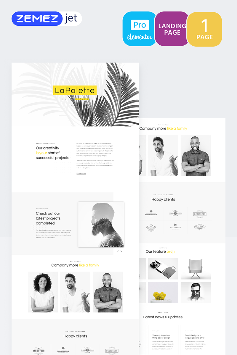 Szablon Elementor Masterity - Creative Minimal Pro #70215