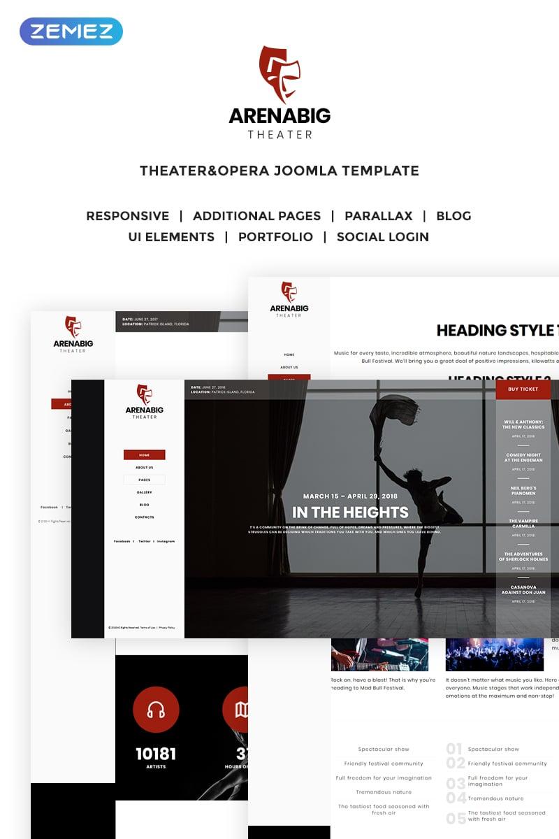 "Tema Joomla Responsive #70284 ""Arenabig Theater - Theater & Opera"""