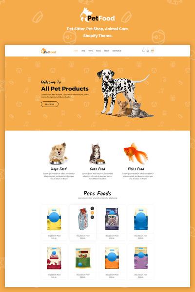Responsive Tema Shopify #70201 para Sitio de  para Sitio de Perros