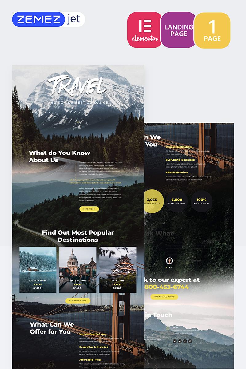 Tournet - Travel Agency Template de Elementor №70206