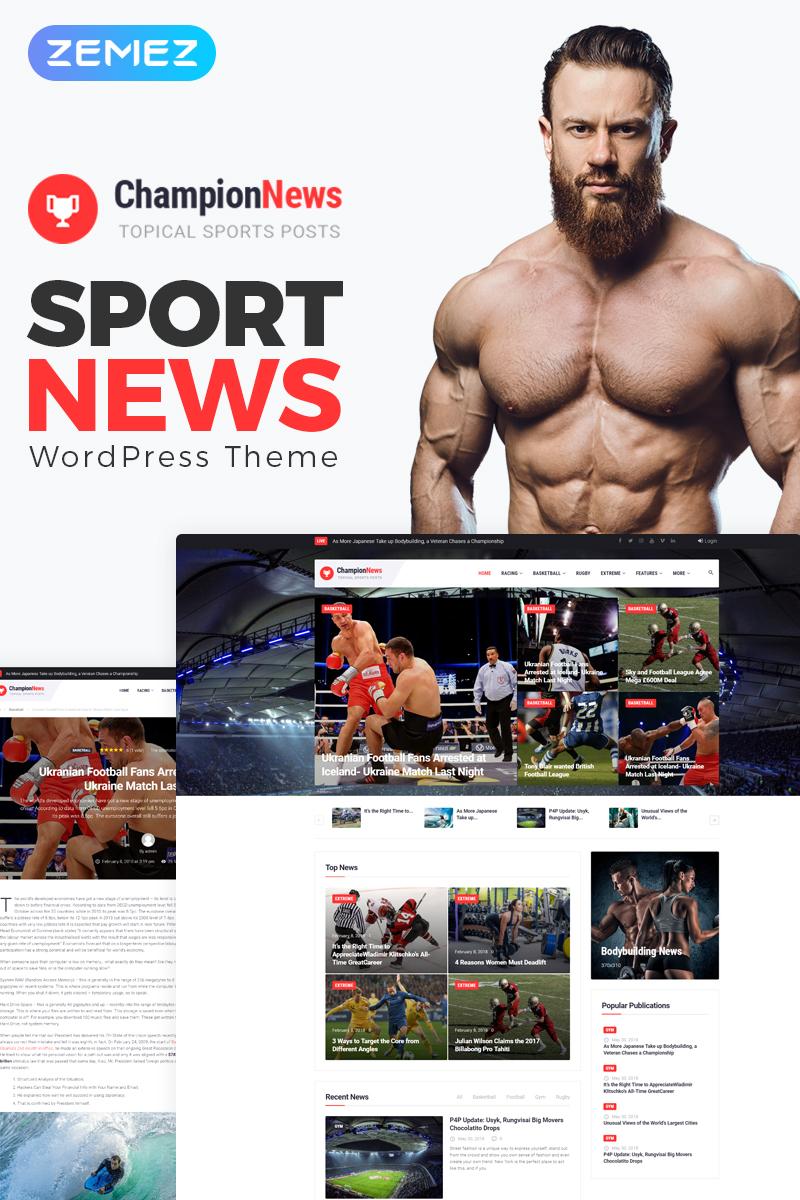 ChampionNews - Sports News Elementor WordPress Theme - screenshot
