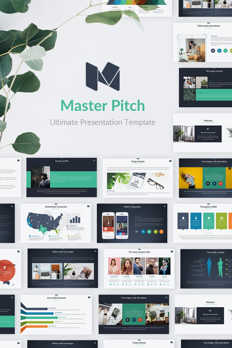 """Master Pitch"" - PowerPoint шаблон №70385"
