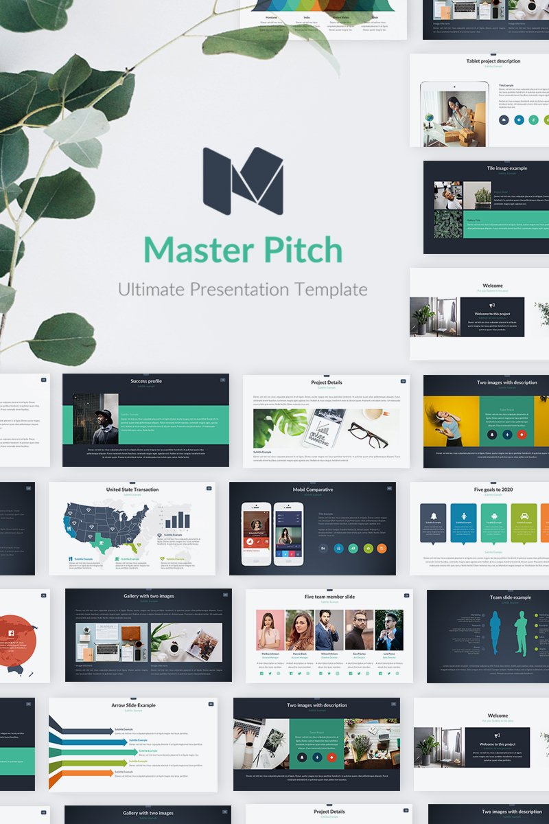 """Master Pitch"" Premium PowerPoint Template №70385"