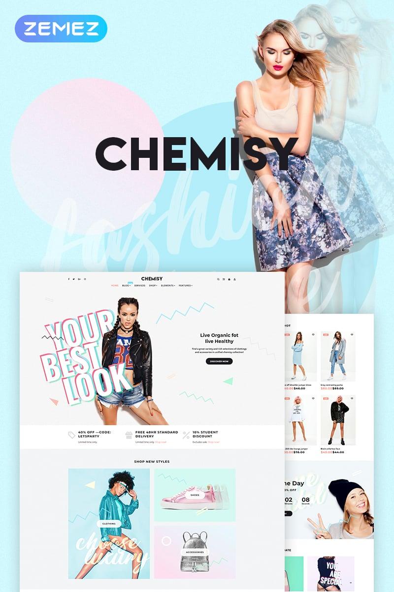 "Modello WooCommerce Responsive #70394 ""Chemisy - Clothes Elementor"""