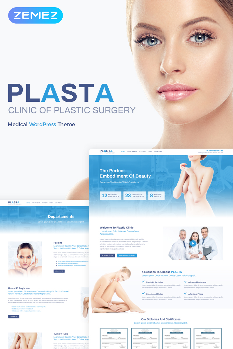 Plasta - Medical Elementor WordPress Theme - screenshot