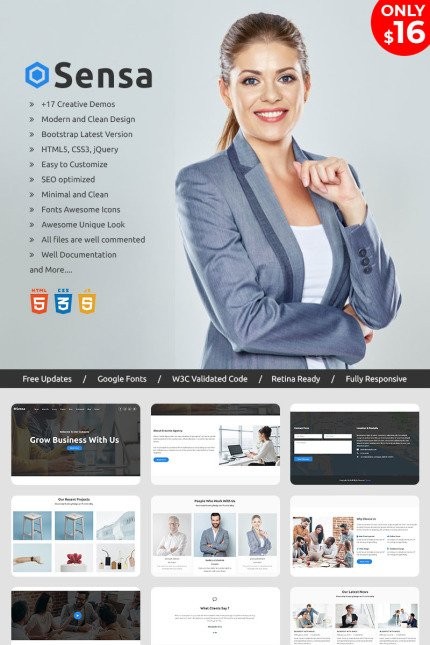 Website Design Template 70417 - bootstrap business clean corporate creative flat modern multipurpose one page parallax portfolio responsive video template cv designer freelancer