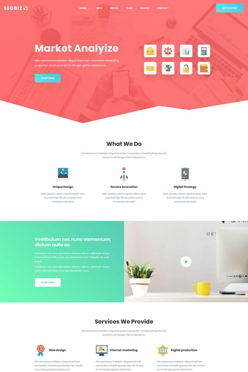 Website Template 70421 Seo Business Parallax Custom Website