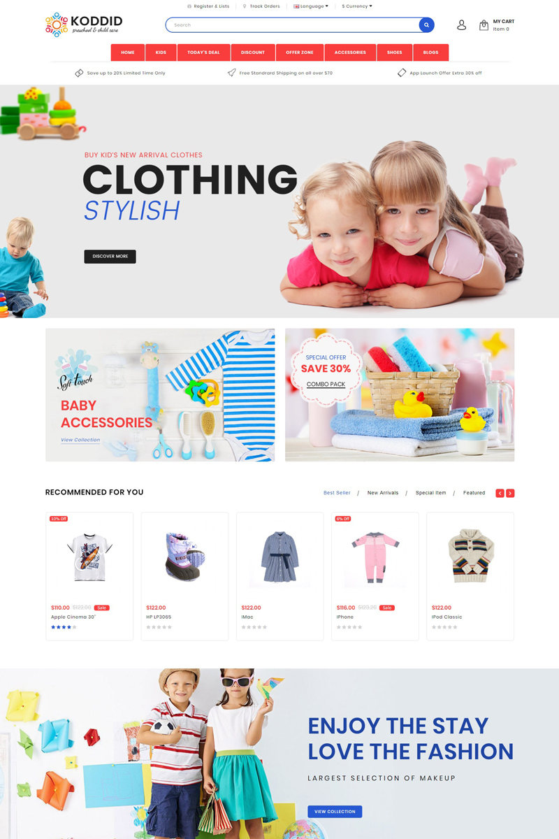 Website Design Template 70426 - electronic fashion furniture gadgets home jewellery lighting mobile multipurpose opencart purse tools accessories clothes watch wood