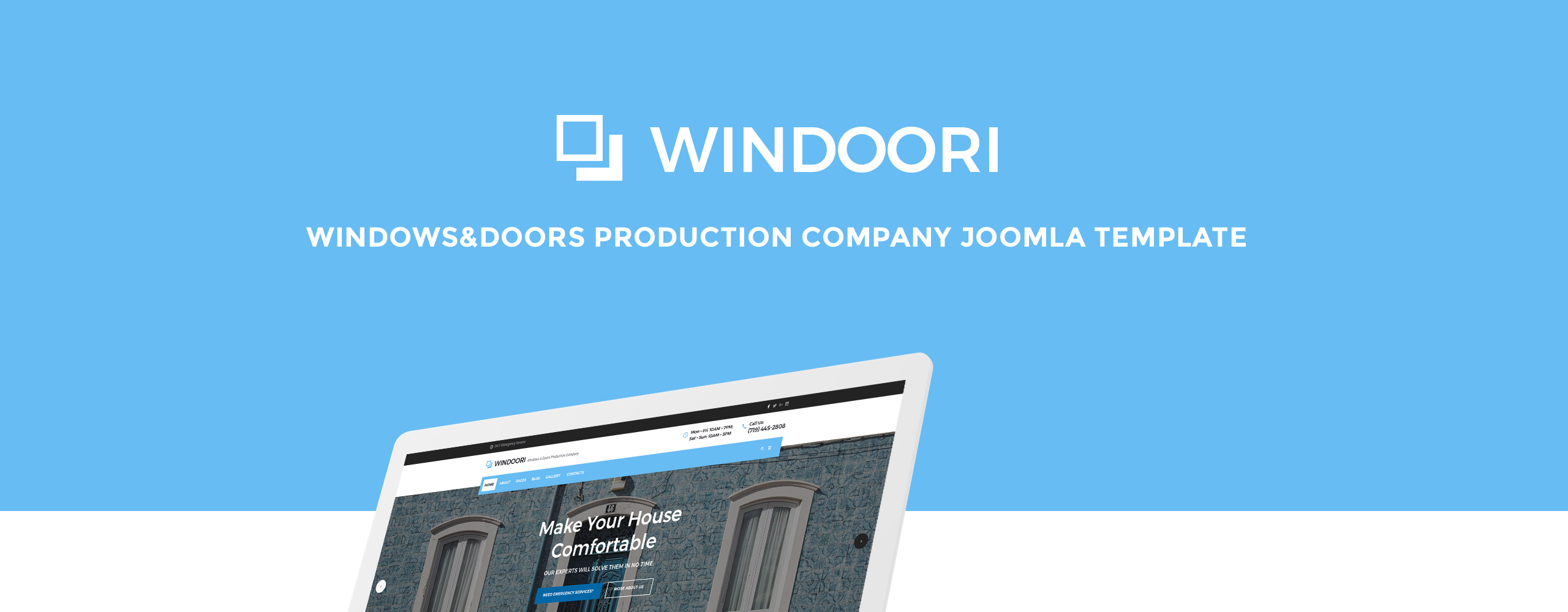 Website Design Template 70473 - windows doors interior design industrial repair renovation architecture
