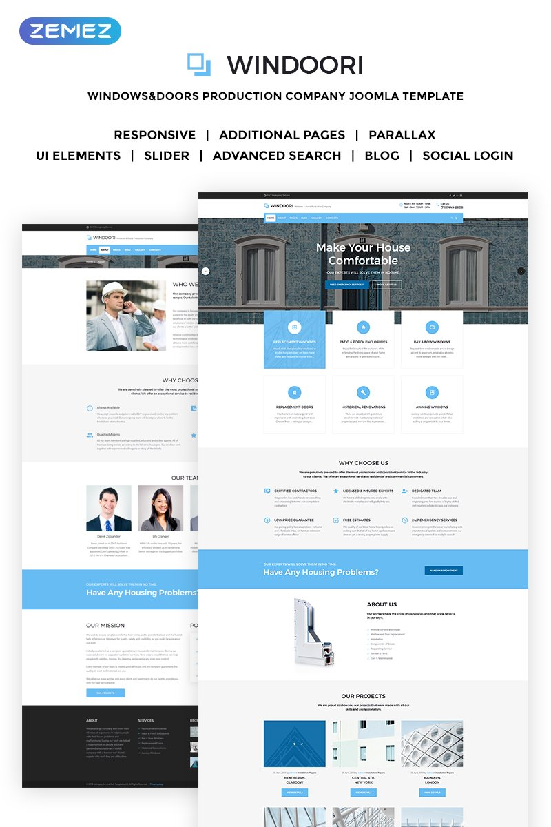 Website Design Template 70473 - services business electrical home industry consultancy simple handyman windows doors interior design industrial repair renovation architecture
