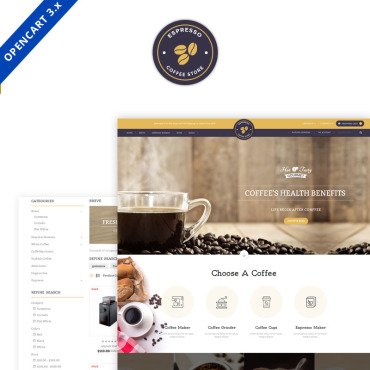 Preview image of Expresso Coffee Opencart 3.x Responsive Template