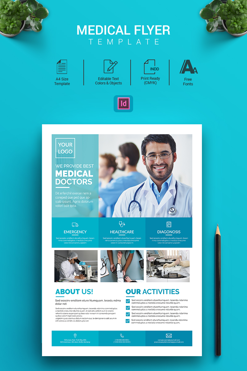 Indesign Medical Flyer Corporate Identity Template