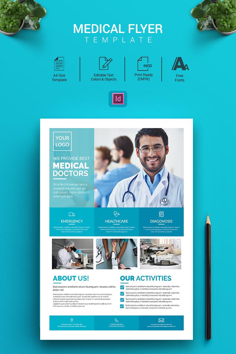 Alex - Indesign Medical Flyer Corporate Identity Template - screenshot