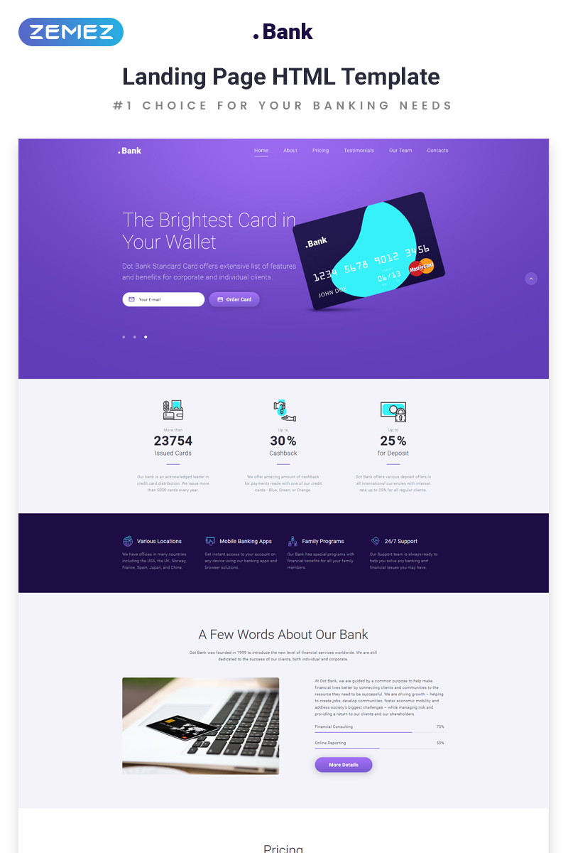 .Bank - Financial HTML5 №70410