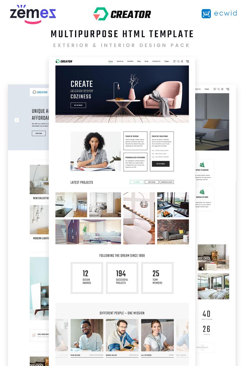 """Creator - Design Multipurpose HTML5"" - адаптивний Шаблон сайту №70411"