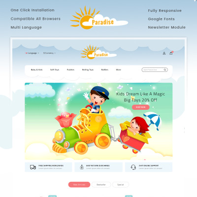 Baby Store Templates  b957dc63776