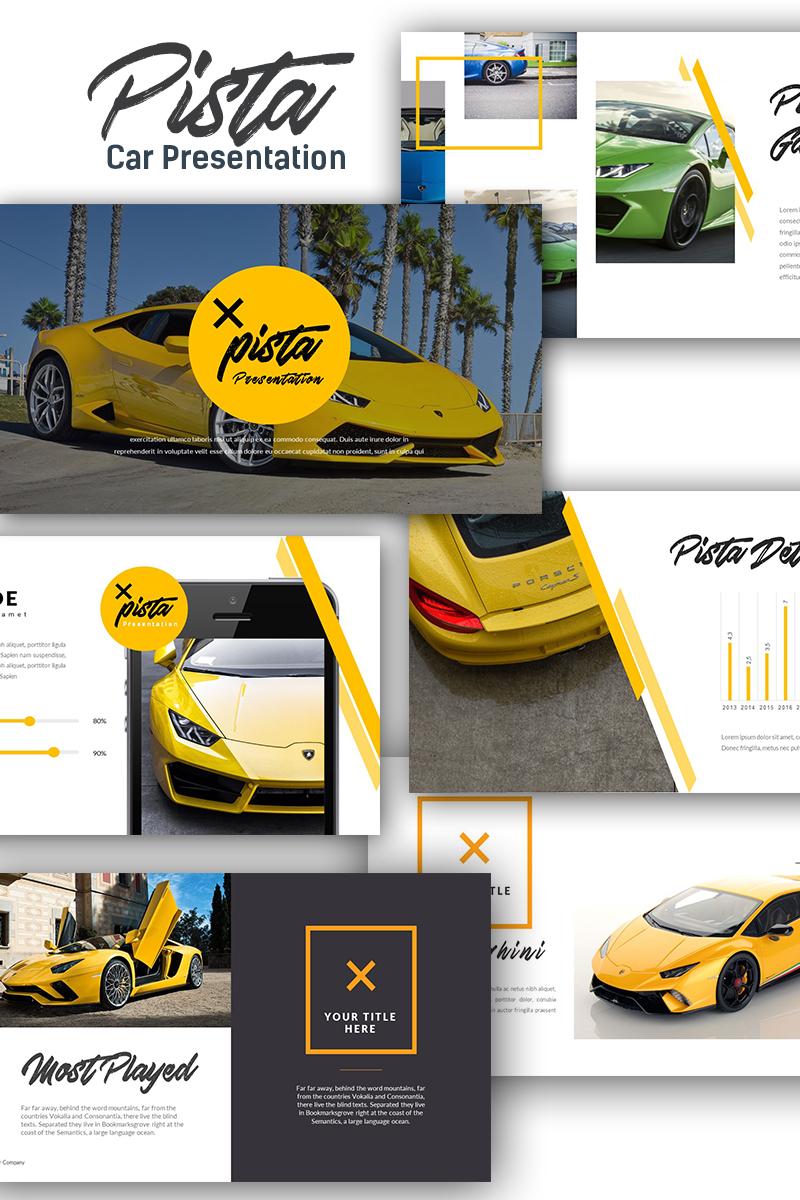 """""""Pista Car Presentation"""" PowerPoint 模板 #70418"""