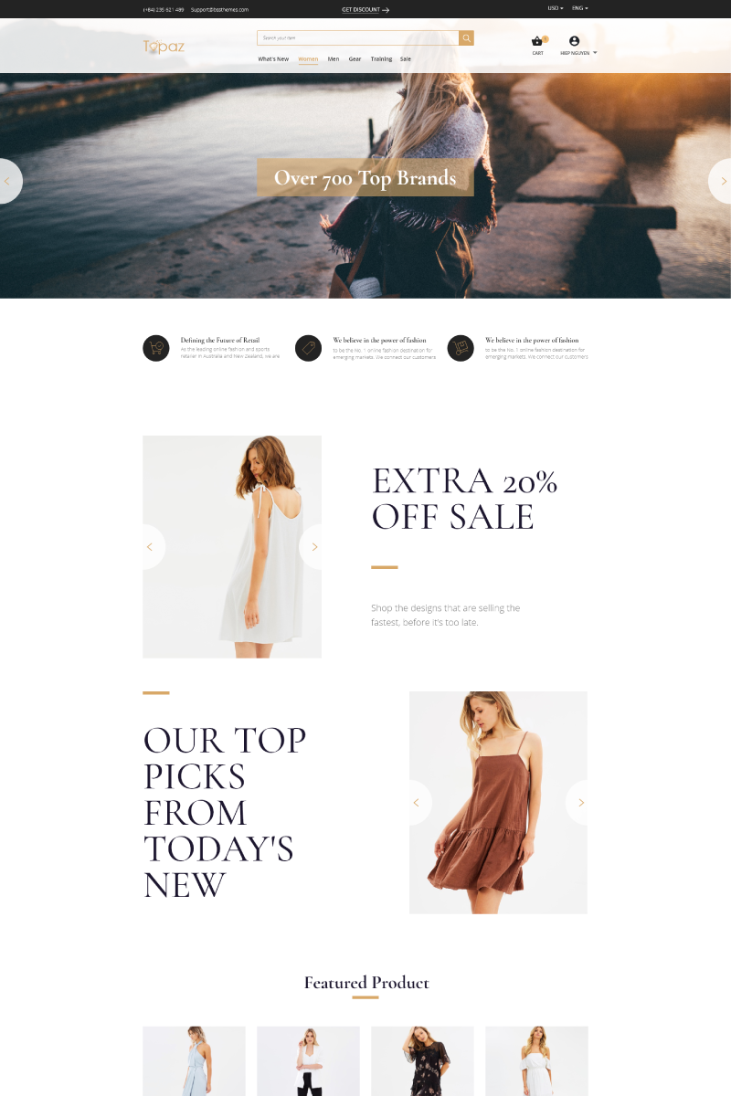 Topaz | Multi-purpose Responsive Magento Theme