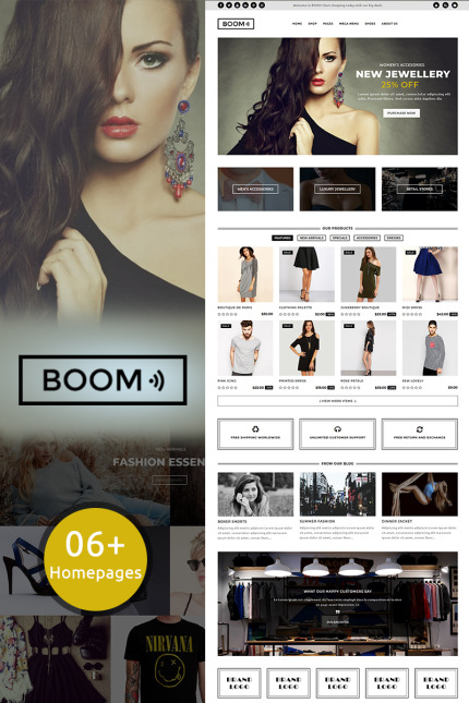 Website Design Template 70504 - accessories dress jewelry