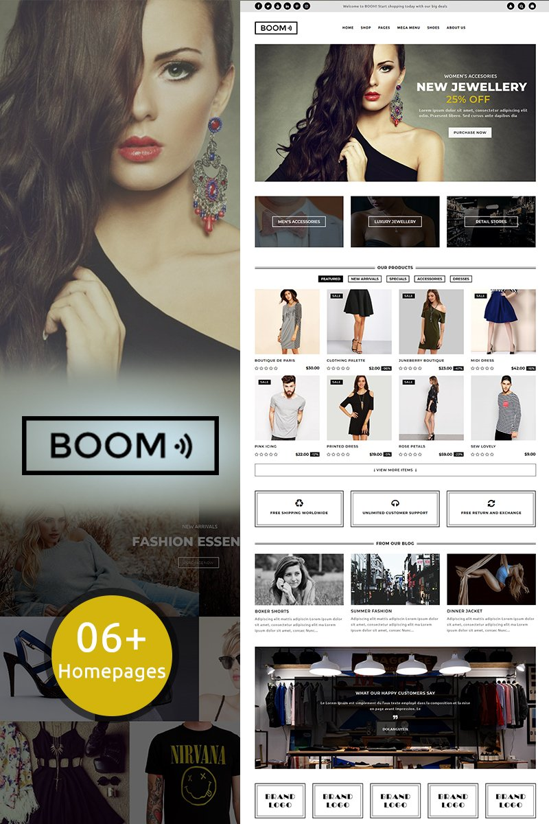 Website Design Template 70504 - dress jewelry