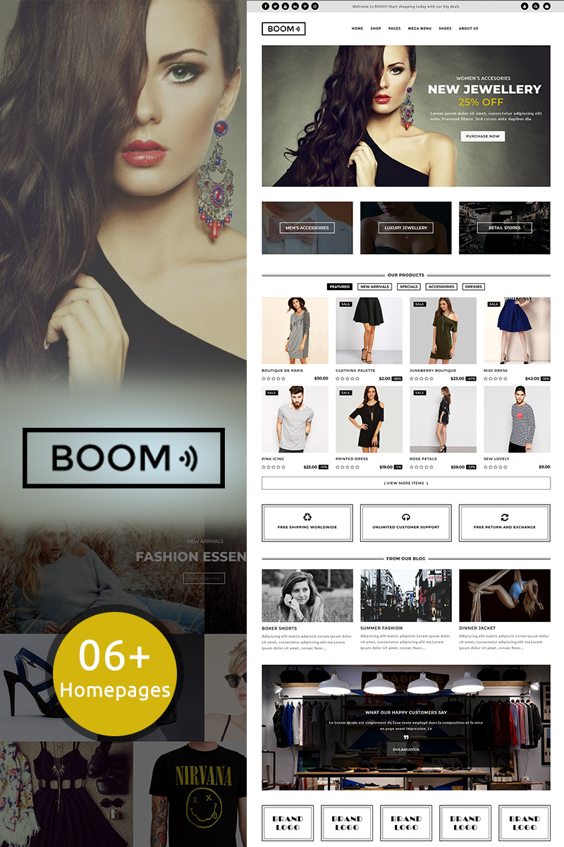 Website Design Template 70504 - fashion accessories dress jewelry
