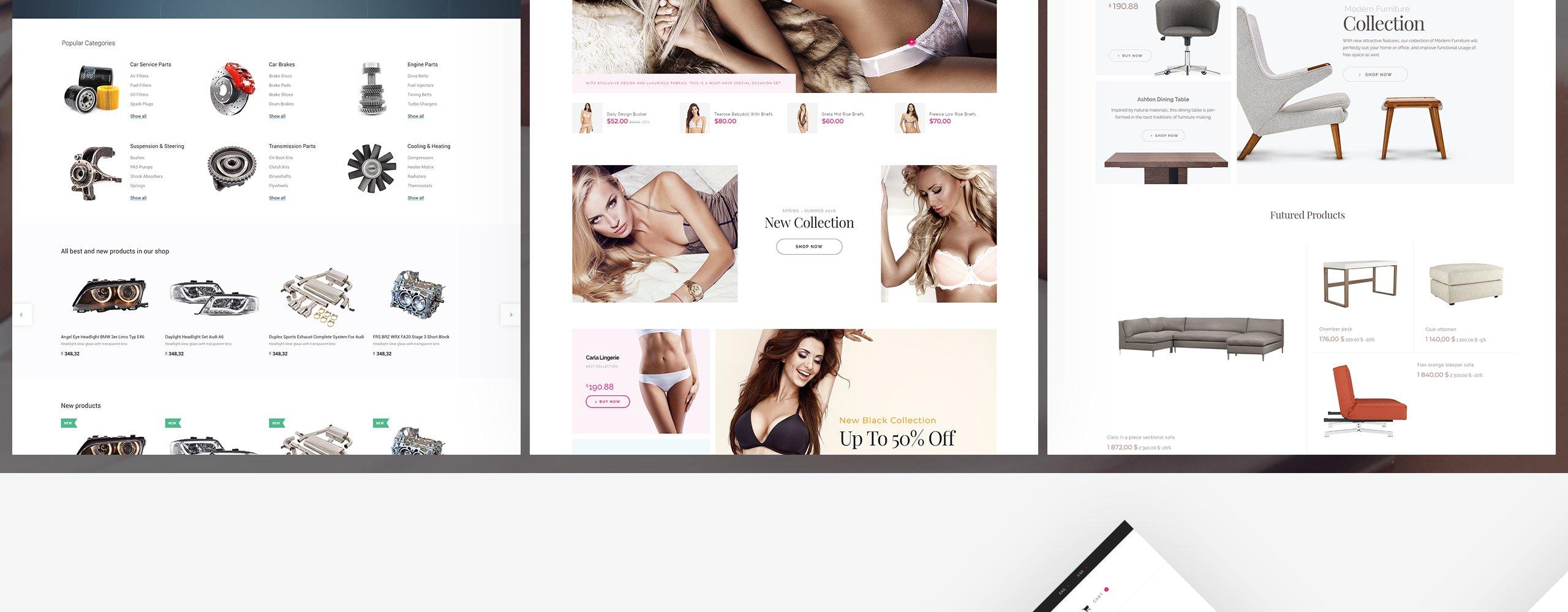 Website Design Template 70515 - prestashop