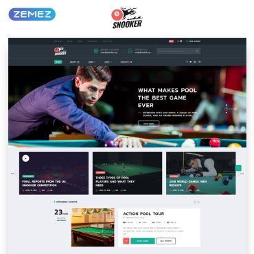 Preview image of Snooker - Billiard Multipage HTML5