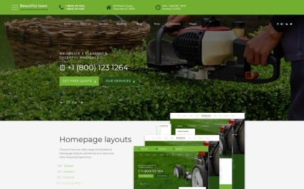 Beautiful Lawn - Lawn Moving And Gardening Website Template