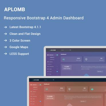 Preview image of Aplomb - Responsive Bootstrap 4