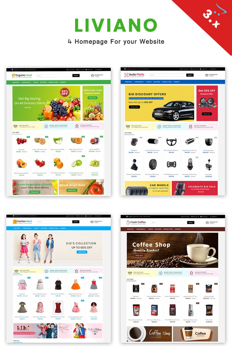 Website Design Template 70562 - clean new design