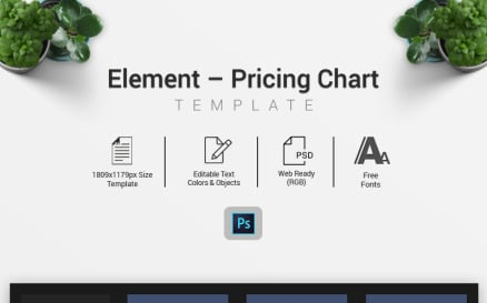 Element – Pricing Chart Infographic Element