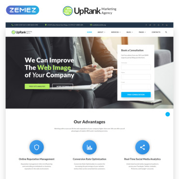 Preview image of UpRank - Stylish Marketing Agency Multipage