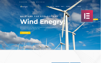 Strongo - Wind Energy Company WordPress Theme