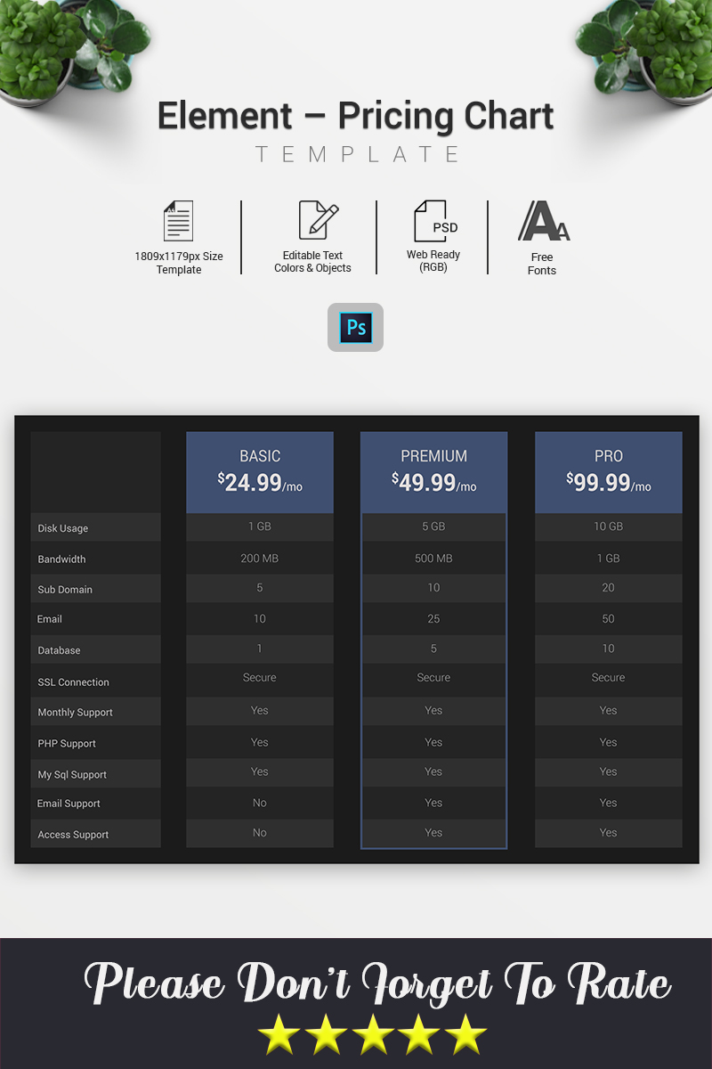 Element – Pricing Chart Infographic Elements - screenshot