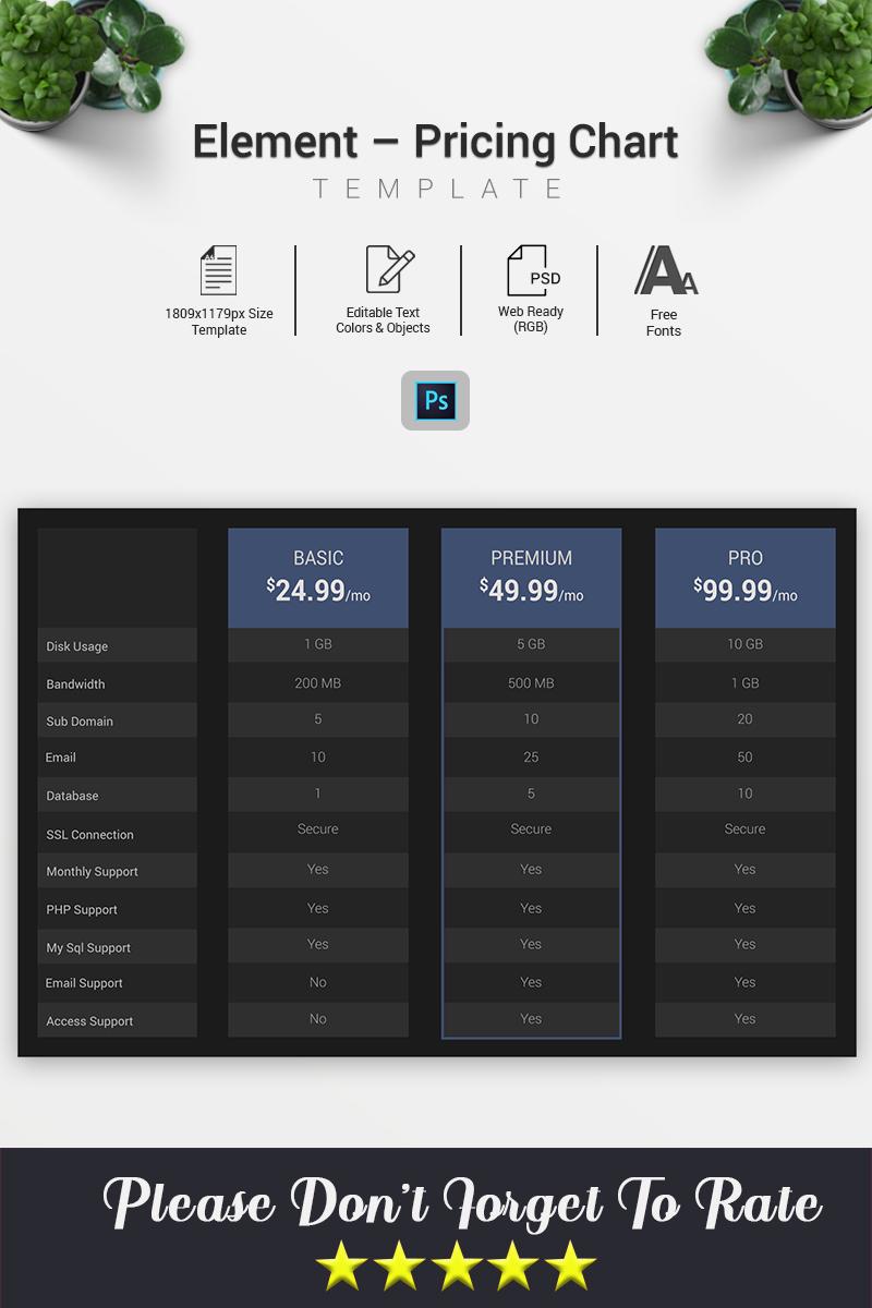 "Elementos De Infografía ""Element – Pricing Chart"" #70576 - captura de pantalla"