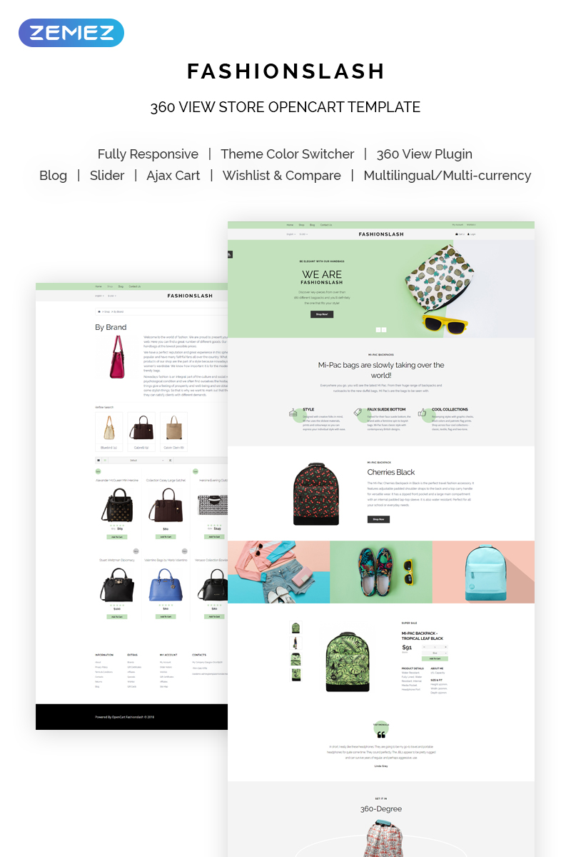 Fashionslash - Fancy Fashion Single Product OpenCart Template