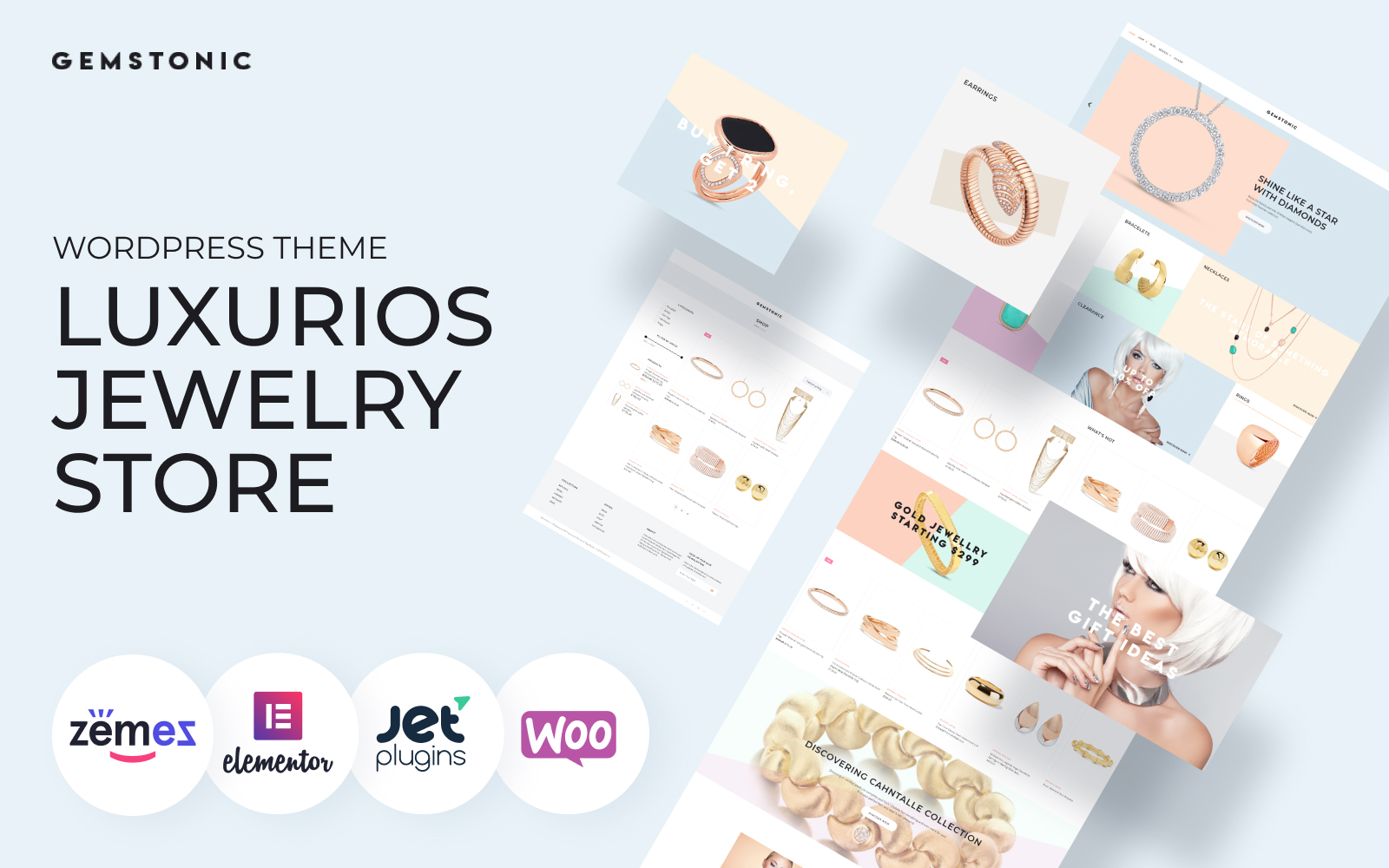 Gemstonic - Jewelry Elementor WooCommerce Theme