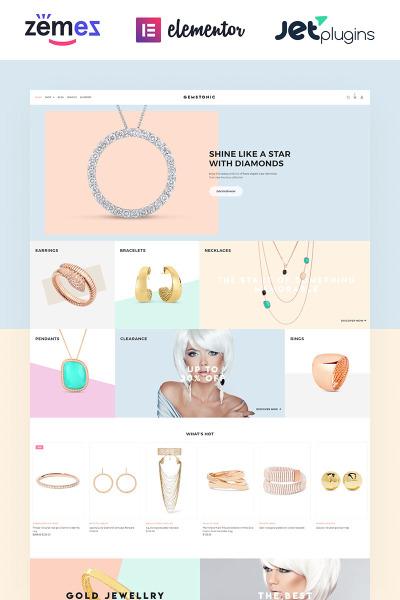 Gemstonic - Jewelry Elementor WooCommerce Theme #70584