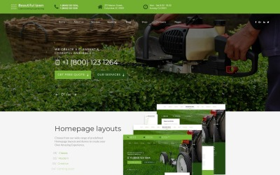 Адаптивный HTML шаблон №70530 на тему ландшафтный дизайн