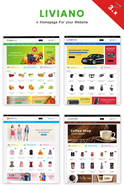 Liviano - Ecommerce Multipurpose OpenCart Template #70562