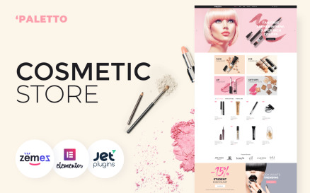Paletto - Cosmetic Store Elementor WooCommerce Theme