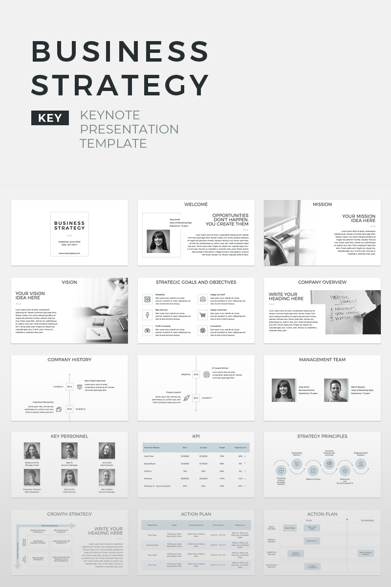 "Plantilla Keynote ""Business Strategy Presentation"" #70572 - captura de pantalla"