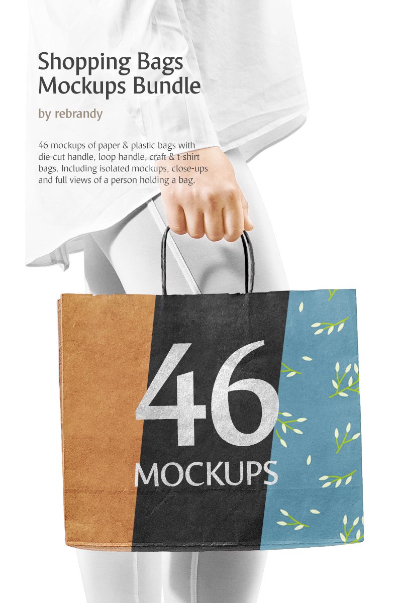 """Shopping Bags Mockups"" Bundle #70502"