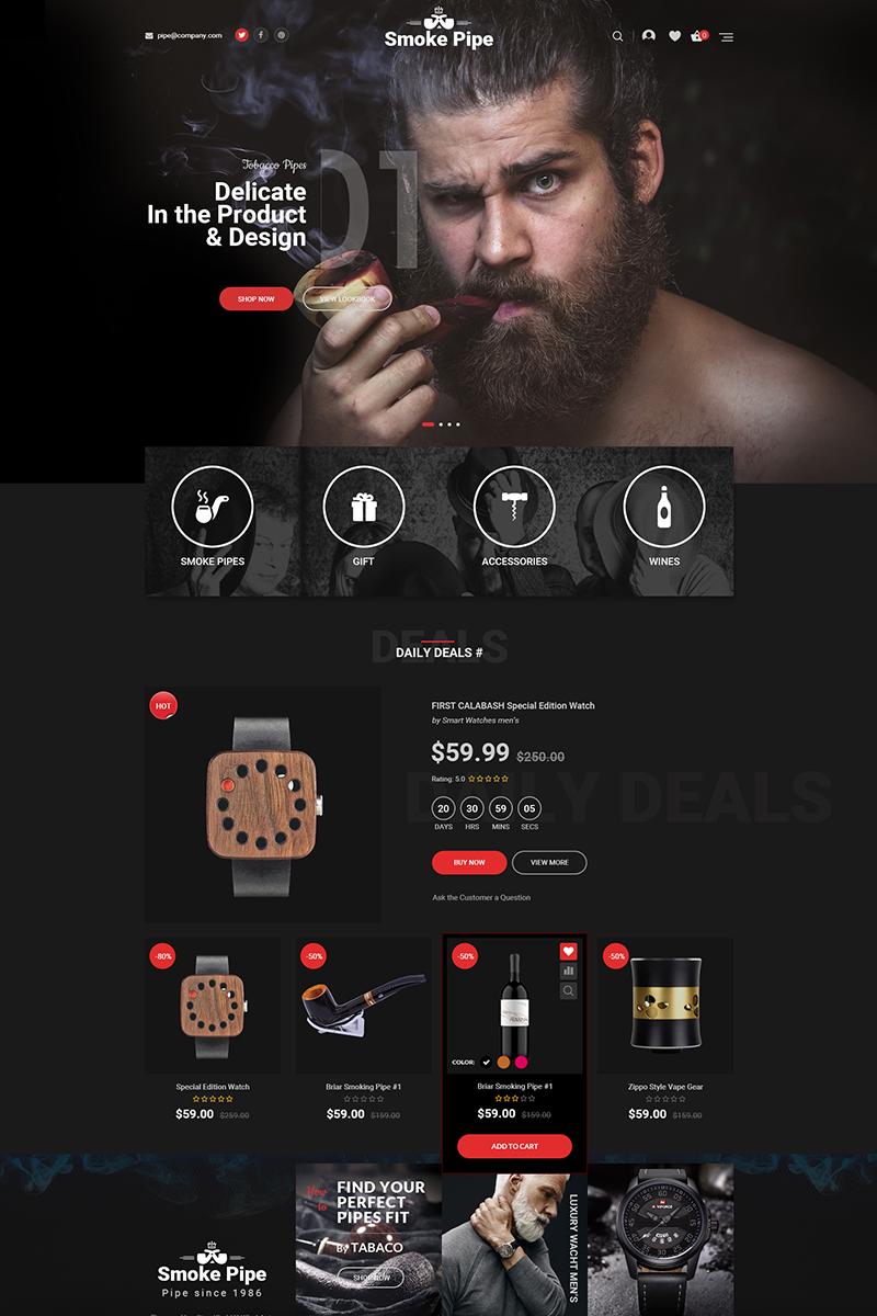 """""""Smoke"""" Responsive WooCommerce Thema №70579 - screenshot"""
