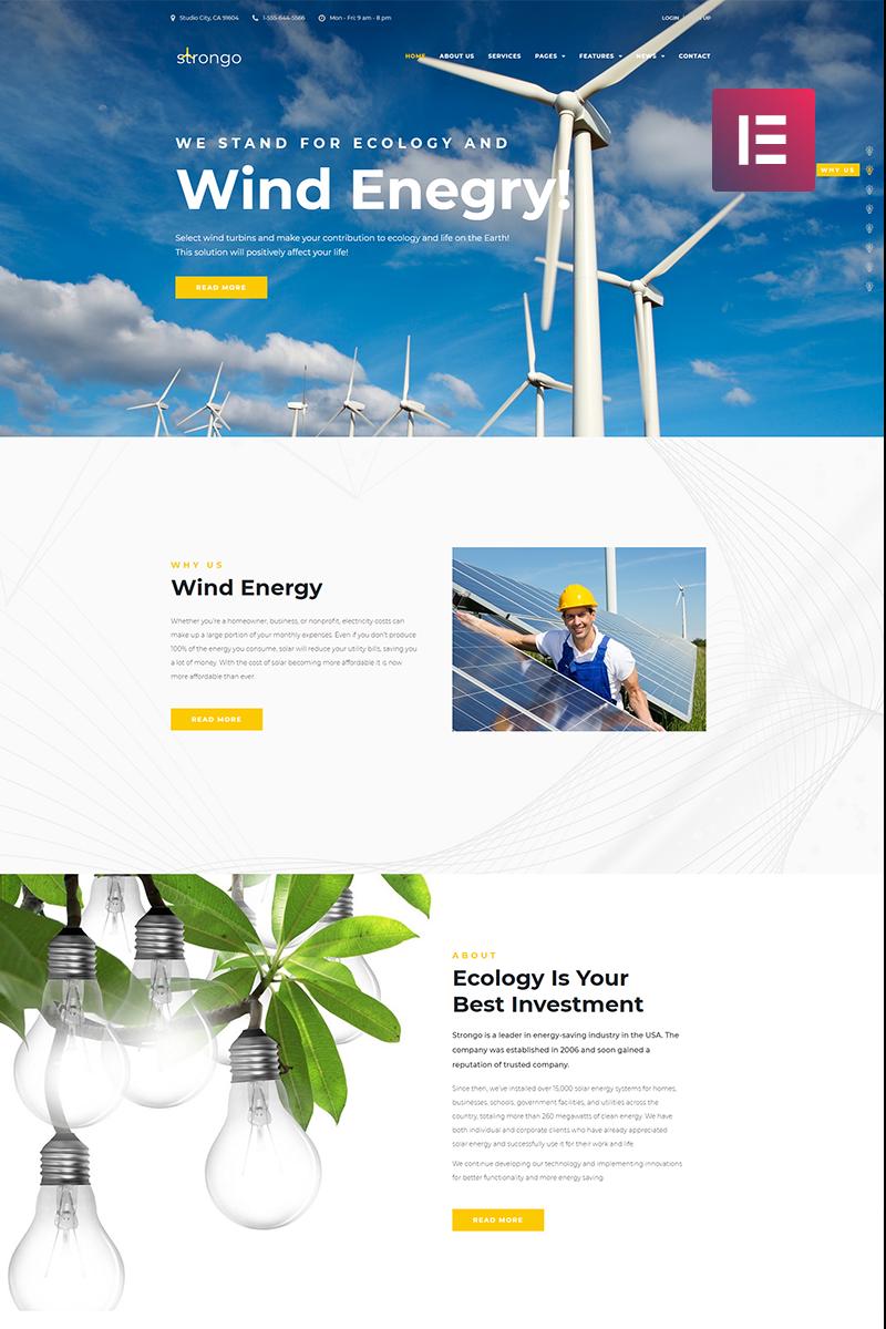 """Strongo - Wind Energy Company"" Responsive WordPress thema №70589"