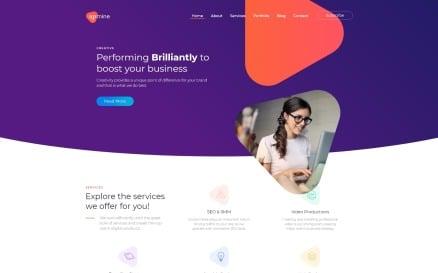 Upmine - Corporate Digital Agency Elementor WordPress Theme